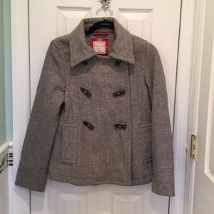 Women's Grey Old Navy Wool Pea Coat w toggles